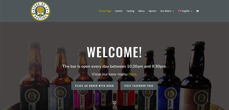 Biere de la Bastide Website Preview