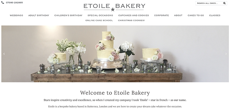Etoile Bakery Website Preview