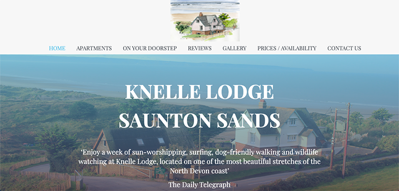 Knelle Lodge Website Preview