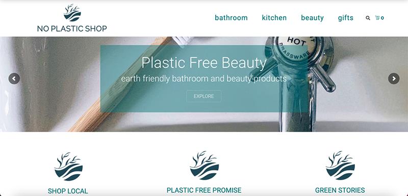 No Plastic Shop Website Preview