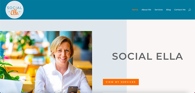 Social Ella Website Preview