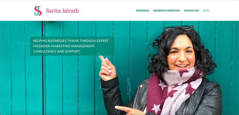 Sarita Jairath Website Preview