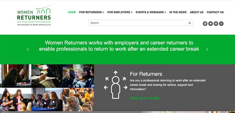 Women Returners Website Preview